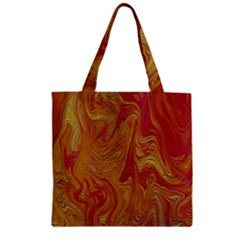 Texture Pattern Abstract Art Zipper Grocery Tote Bag
