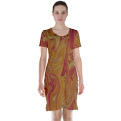 Texture Pattern Abstract Art Short Sleeve Nightdress