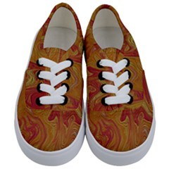 Texture Pattern Abstract Art Kids  Classic Low Top Sneakers