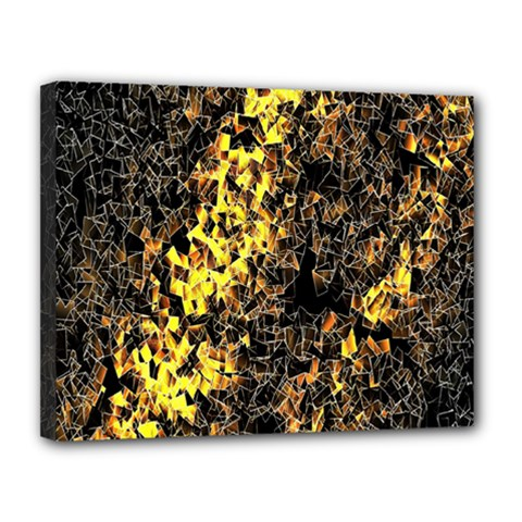 The Background Wallpaper Gold Canvas 14  X 11