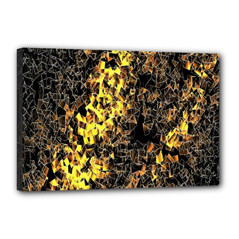 The Background Wallpaper Gold Canvas 18  X 12