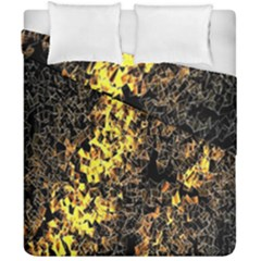 The Background Wallpaper Gold Duvet Cover Double Side (california King Size)