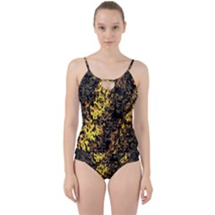 The Background Wallpaper Gold Cut Out Top Tankini Set