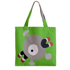 Magnemite (blue) Zipper Grocery Tote Bag