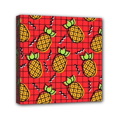 Fruit Pineapple Red Yellow Green Canvas Travel Bag