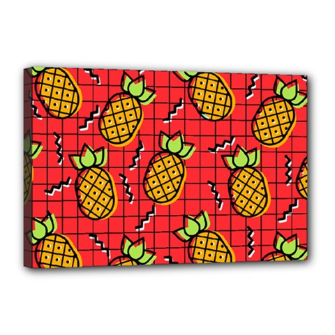 Fruit Pineapple Red Yellow Green Canvas 18  X 12