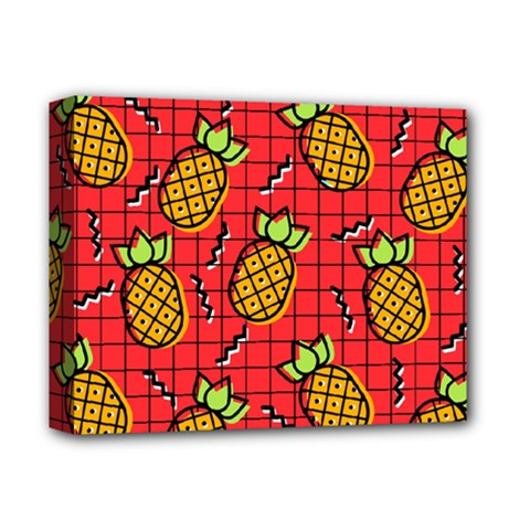 Fruit Pineapple Red Yellow Green Deluxe Canvas 14  X 11