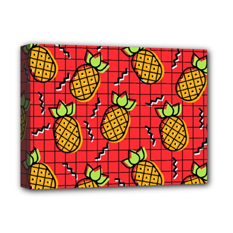 Fruit Pineapple Red Yellow Green Deluxe Canvas 16  X 12