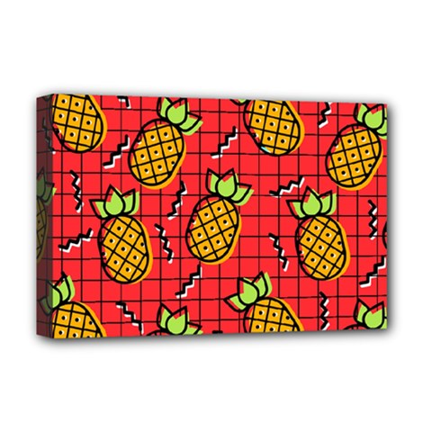Fruit Pineapple Red Yellow Green Deluxe Canvas 18  X 12