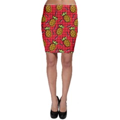 Fruit Pineapple Red Yellow Green Bodycon Skirt