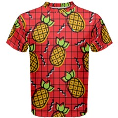 Fruit Pineapple Red Yellow Green Men s Cotton Tee