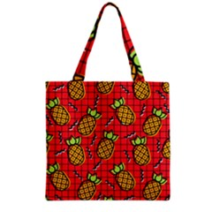 Fruit Pineapple Red Yellow Green Grocery Tote Bag