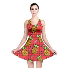 Fruit Pineapple Red Yellow Green Reversible Skater Dress