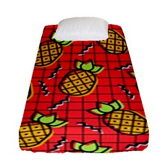 Fruit Pineapple Red Yellow Green Fitted Sheet (single Size)