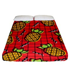 Fruit Pineapple Red Yellow Green Fitted Sheet (king Size)