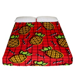 Fruit Pineapple Red Yellow Green Fitted Sheet (california King Size)