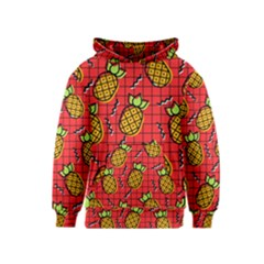 Fruit Pineapple Red Yellow Green Kids  Pullover Hoodie
