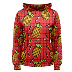 Fruit Pineapple Red Yellow Green Women s Pullover Hoodie