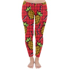 Fruit Pineapple Red Yellow Green Classic Winter Leggings