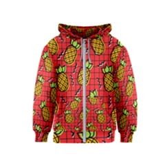 Fruit Pineapple Red Yellow Green Kids  Zipper Hoodie