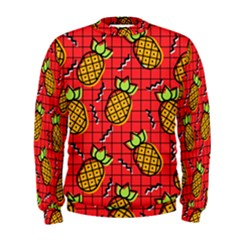 Fruit Pineapple Red Yellow Green Men s Sweatshirt