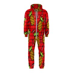 Fruit Pineapple Red Yellow Green Hooded Jumpsuit (kids)