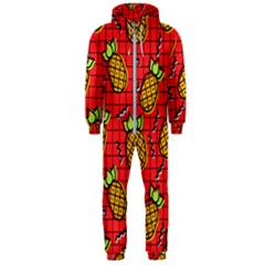 Fruit Pineapple Red Yellow Green Hooded Jumpsuit (men)