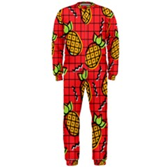 Fruit Pineapple Red Yellow Green Onepiece Jumpsuit (men)