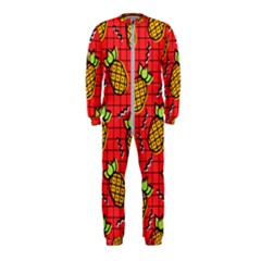 Fruit Pineapple Red Yellow Green Onepiece Jumpsuit (kids)