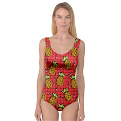 Fruit Pineapple Red Yellow Green Princess Tank Leotard