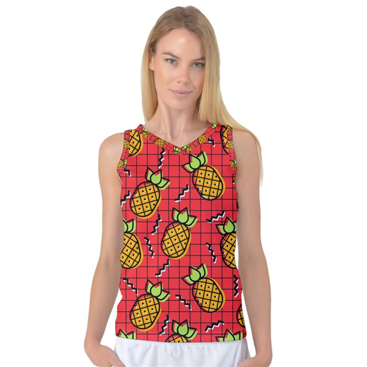 Fruit Pineapple Red Yellow Green Women s Basketball Tank Top