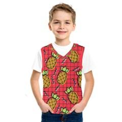 Fruit Pineapple Red Yellow Green Kids  Sportswear