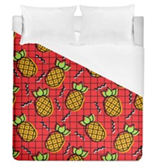 Fruit Pineapple Red Yellow Green Duvet Cover (queen Size)