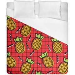 Fruit Pineapple Red Yellow Green Duvet Cover (california King Size)