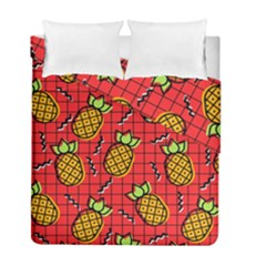 Fruit Pineapple Red Yellow Green Duvet Cover Double Side (full/ Double Size)