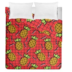 Fruit Pineapple Red Yellow Green Duvet Cover Double Side (queen Size)