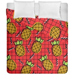 Fruit Pineapple Red Yellow Green Duvet Cover Double Side (california King Size)