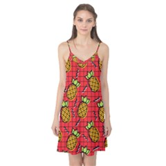 Fruit Pineapple Red Yellow Green Camis Nightgown