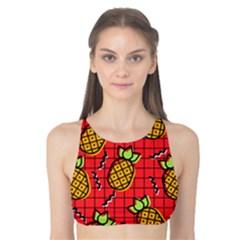Fruit Pineapple Red Yellow Green Tank Bikini Top