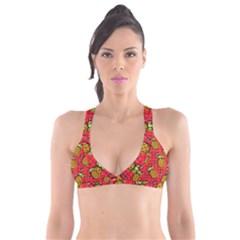 Fruit Pineapple Red Yellow Green Plunge Bikini Top