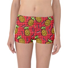 Fruit Pineapple Red Yellow Green Reversible Boyleg Bikini Bottoms