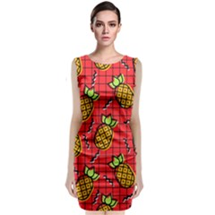 Fruit Pineapple Red Yellow Green Classic Sleeveless Midi Dress