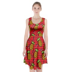 Fruit Pineapple Red Yellow Green Racerback Midi Dress