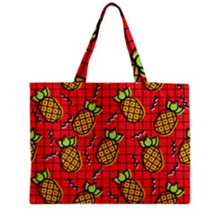 Fruit Pineapple Red Yellow Green Medium Tote Bag