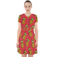 Fruit Pineapple Red Yellow Green Adorable In Chiffon Dress