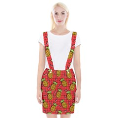 Fruit Pineapple Red Yellow Green Braces Suspender Skirt