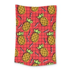 Fruit Pineapple Red Yellow Green Small Tapestry