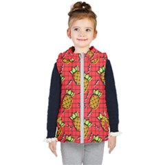 Fruit Pineapple Red Yellow Green Kid s Puffer Vest