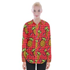 Fruit Pineapple Red Yellow Green Womens Long Sleeve Shirt