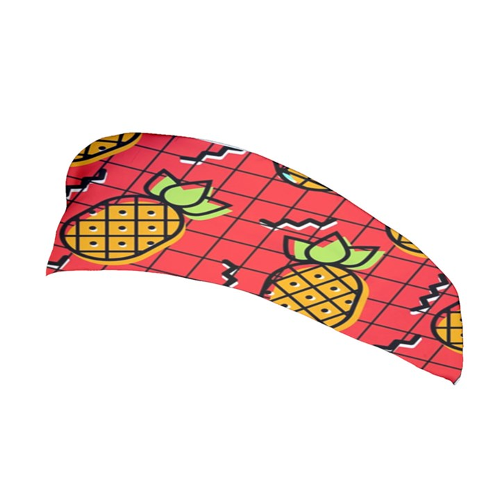 Fruit Pineapple Red Yellow Green Stretchable Headband